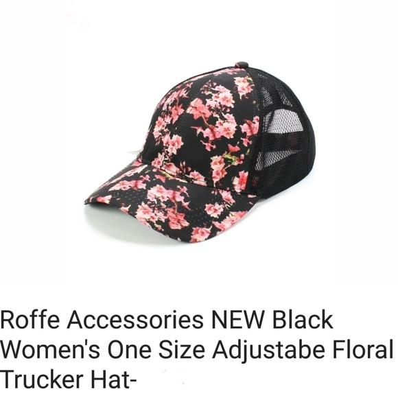 af922ebfe84 Bright pink floral Trucker Baseball cap hat